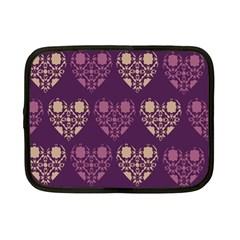 Purple Hearts Seamless Pattern Netbook Case (small)  by Nexatart