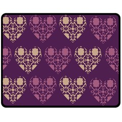 Purple Hearts Seamless Pattern Double Sided Fleece Blanket (medium)  by Nexatart