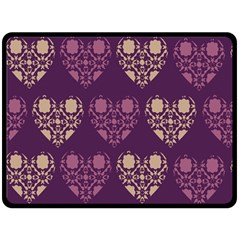 Purple Hearts Seamless Pattern Double Sided Fleece Blanket (large)  by Nexatart