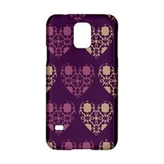 Purple Hearts Seamless Pattern Samsung Galaxy S5 Hardshell Case  by Nexatart