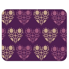 Purple Hearts Seamless Pattern Double Sided Flano Blanket (medium)  by Nexatart