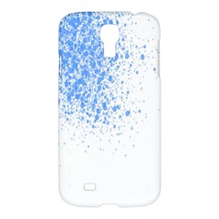 Blue Paint Splats Samsung Galaxy S4 I9500/i9505 Hardshell Case by Nexatart