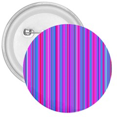 Blue And Pink Stripes 3  Buttons by Nexatart