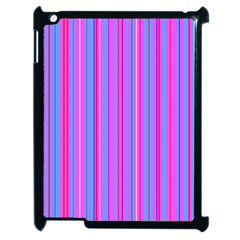 Blue And Pink Stripes Apple Ipad 2 Case (black) by Nexatart