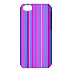Blue And Pink Stripes Apple Iphone 5c Hardshell Case by Nexatart