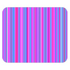 Blue And Pink Stripes Double Sided Flano Blanket (small)