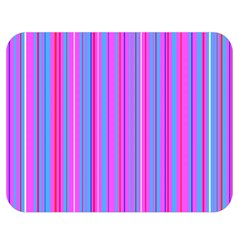 Blue And Pink Stripes Double Sided Flano Blanket (medium)  by Nexatart