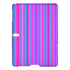 Blue And Pink Stripes Samsung Galaxy Tab S (10 5 ) Hardshell Case  by Nexatart