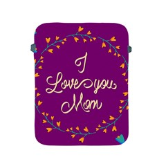Happy Mothers Day Celebration I Love You Mom Apple Ipad 2/3/4 Protective Soft Cases by Nexatart