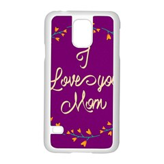 Happy Mothers Day Celebration I Love You Mom Samsung Galaxy S5 Case (white) by Nexatart