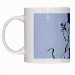 Floral Blue Bluebell Flowers Watercolor Painting White Mugs by Nexatart