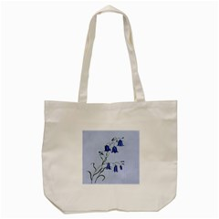 Floral Blue Bluebell Flowers Watercolor Painting Tote Bag (cream) by Nexatart