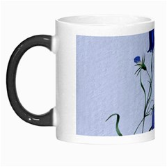 Floral Blue Bluebell Flowers Watercolor Painting Morph Mugs by Nexatart