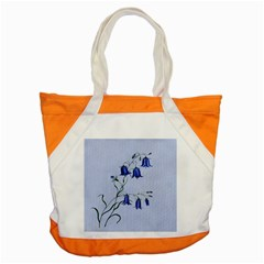 Floral Blue Bluebell Flowers Watercolor Painting Accent Tote Bag by Nexatart