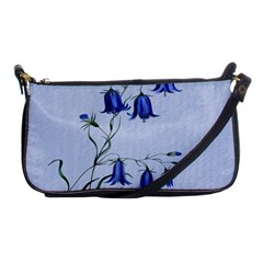 Floral Blue Bluebell Flowers Watercolor Painting Shoulder Clutch Bags by Nexatart