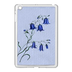 Floral Blue Bluebell Flowers Watercolor Painting Apple Ipad Mini Case (white) by Nexatart
