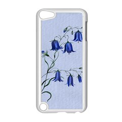 Floral Blue Bluebell Flowers Watercolor Painting Apple Ipod Touch 5 Case (white) by Nexatart