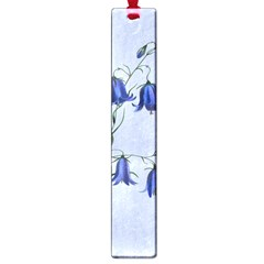 Floral Blue Bluebell Flowers Watercolor Painting Large Book Marks by Nexatart