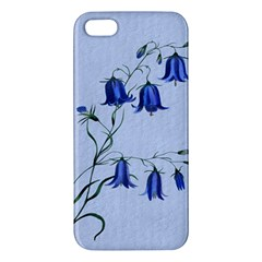Floral Blue Bluebell Flowers Watercolor Painting Iphone 5s/ Se Premium Hardshell Case by Nexatart