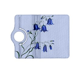 Floral Blue Bluebell Flowers Watercolor Painting Kindle Fire Hd (2013) Flip 360 Case by Nexatart