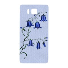 Floral Blue Bluebell Flowers Watercolor Painting Samsung Galaxy Alpha Hardshell Back Case by Nexatart