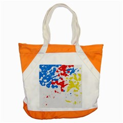 Paint Splatter Digitally Created Blue Red And Yellow Splattering Of Paint On A White Background Accent Tote Bag by Nexatart