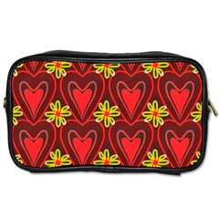 Digitally Created Seamless Love Heart Pattern Toiletries Bags
