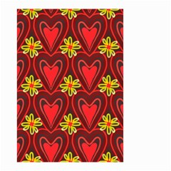 Digitally Created Seamless Love Heart Pattern Small Garden Flag (Two Sides)
