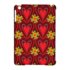 Digitally Created Seamless Love Heart Pattern Apple Ipad Mini Hardshell Case (compatible With Smart Cover) by Nexatart