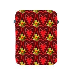 Digitally Created Seamless Love Heart Pattern Apple Ipad 2/3/4 Protective Soft Cases by Nexatart