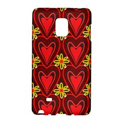 Digitally Created Seamless Love Heart Pattern Galaxy Note Edge by Nexatart