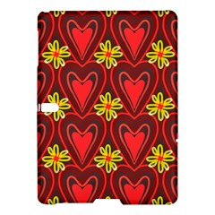 Digitally Created Seamless Love Heart Pattern Samsung Galaxy Tab S (10 5 ) Hardshell Case  by Nexatart