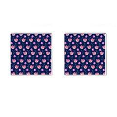 Watercolour Flower Pattern Cufflinks (square) by Nexatart