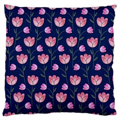 Watercolour Flower Pattern Large Flano Cushion Case (two Sides) by Nexatart