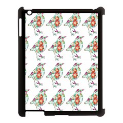 Floral Birds Wallpaper Pattern On White Background Apple Ipad 3/4 Case (black) by Nexatart