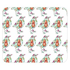 Floral Birds Wallpaper Pattern On White Background Double Sided Flano Blanket (small)  by Nexatart