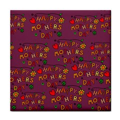 Happy Mothers Day Text Tiling Pattern Tile Coasters by Nexatart