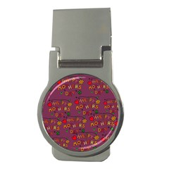 Happy Mothers Day Text Tiling Pattern Money Clips (round)  by Nexatart