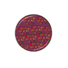 Happy Mothers Day Text Tiling Pattern Hat Clip Ball Marker (4 Pack) by Nexatart