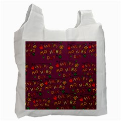 Happy Mothers Day Text Tiling Pattern Recycle Bag (one Side) by Nexatart