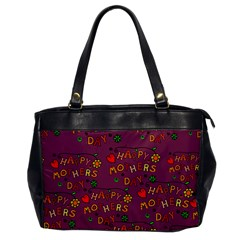 Happy Mothers Day Text Tiling Pattern Office Handbags by Nexatart