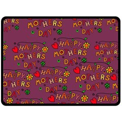 Happy Mothers Day Text Tiling Pattern Fleece Blanket (large)  by Nexatart