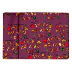 Happy Mothers Day Text Tiling Pattern Samsung Galaxy Tab 10 1  P7500 Flip Case by Nexatart
