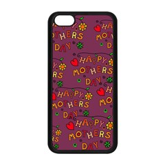 Happy Mothers Day Text Tiling Pattern Apple Iphone 5c Seamless Case (black) by Nexatart