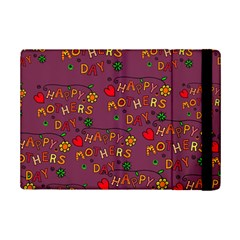 Happy Mothers Day Text Tiling Pattern Ipad Mini 2 Flip Cases by Nexatart