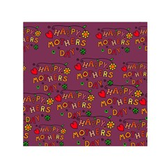 Happy Mothers Day Text Tiling Pattern Small Satin Scarf (square) by Nexatart