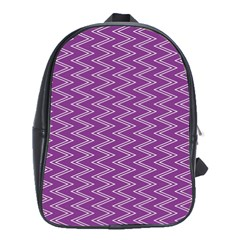 Purple Zig Zag Pattern Background Wallpaper School Bags (xl)  by Nexatart