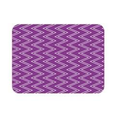 Purple Zig Zag Pattern Background Wallpaper Double Sided Flano Blanket (mini)  by Nexatart