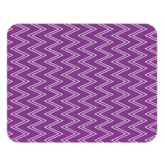Purple Zig Zag Pattern Background Wallpaper Double Sided Flano Blanket (large)  by Nexatart