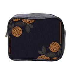 Floral Roses Seamless Pattern Vector Background Mini Toiletries Bag 2 Side by Nexatart